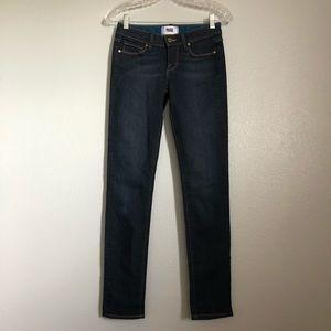 Paige Skyline Skinny Dark Blue Stretch Jeans 25